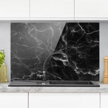 Spritzschutz Glas - Nero Carrara - Querformat - 3:2