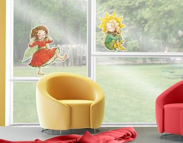 Fensterfolie - Fenstersticker No.677 Erdbeerinchen Erdbeerfee - Ein sonniger Tag 100x68cm - Fensterbilder-100x68