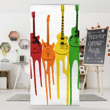 Raumteiler Kinderzimmer - No.472 Retro Guitars 250x120cm