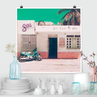 Poster - Mini Supermarkt Vintage - Quadrat 1:1