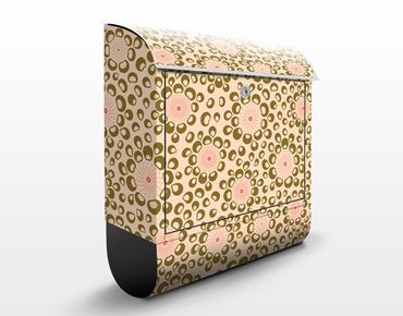 Wandbriefkasten - Spiralen Design - Briefkasten Braun