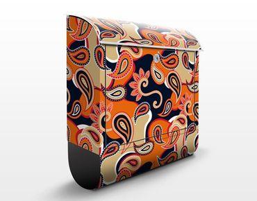 Design Briefkasten Grafik mit Paisleys 39x46x13cm