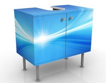 Waschbeckenunterschrank - Abstract Background - Badschrank Blau