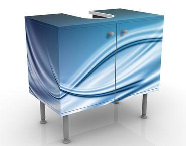 Waschbeckenunterschrank - Abstract Design - Badschrank Blau