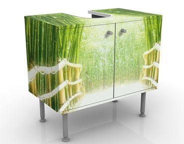 Waschbeckenunterschrank - Bamboo Way - Badschrank Grün
