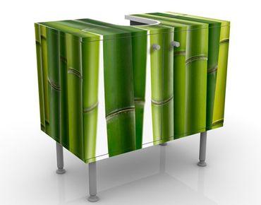 Waschbeckenunterschrank - Bambuspflanzen - Badschrank Grün