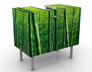 Waschbeckenunterschrank - Bambuswald No.2 - Badschrank Grün