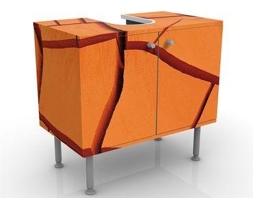 Waschbeckenunterschrank - African Land - Badschrank Orange