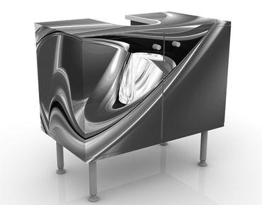 Waschbeckenunterschrank - Agitating Pink II - Badschrank Schwarz Grau