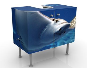 Waschbeckenunterschrank - Batoidea - Badschrank Blau