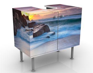 Waschbeckenunterschrank - Am Meer in Cornwall - Maritim Badschrank