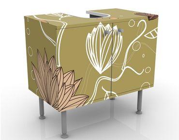 Waschbeckenunterschrank - Art Nouveau Flower - Blumen Badschrank
