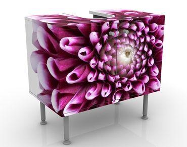 Waschbeckenunterschrank - Aster - Blumen Badschrank