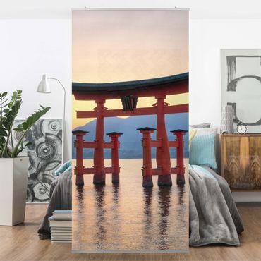 Raumteiler - Torii am Itsukushima 250x120cm