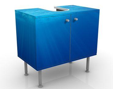 Waschbeckenunterschrank - Arctic Sun - Badschrank Blau