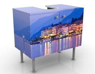 Waschbeckenunterschrank - Bellagio am Comer See - Badschrank Blau