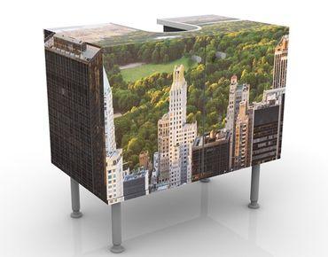 Waschbeckenunterschrank - Blick über den Central Park - Badschrank