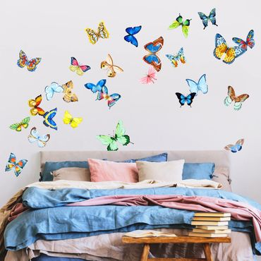 Wandtattoo - Aquarell Schmetterlinge Set