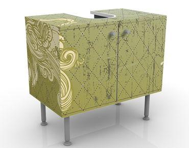 Waschbeckenunterschrank - Floraler Barock - Badschrank