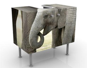 Waschbeckenunterschrank - Elefantenliebe - Badschrank