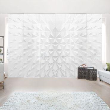 Schiebegardinen Set - Geometrisches Muster 3D Effekt - Flächenvorhänge