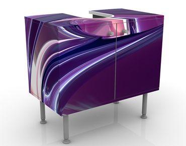 Waschbeckenunterschrank - Circles In Purple - Badschrank