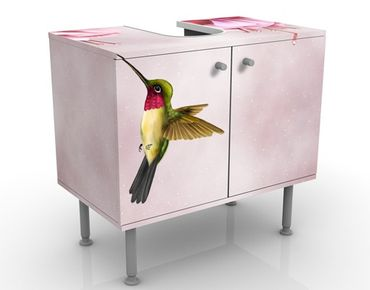 Waschbeckenunterschrank - Kolibri - Badschrank Rosa