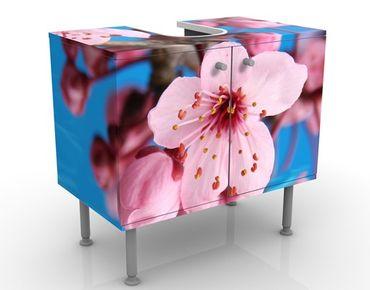 Waschbeckenunterschrank - Kirschblüte - Blumen Badschrank Rosa