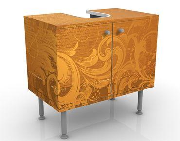 Waschbeckenunterschrank - Goldener Barock - Vintage Badschrank