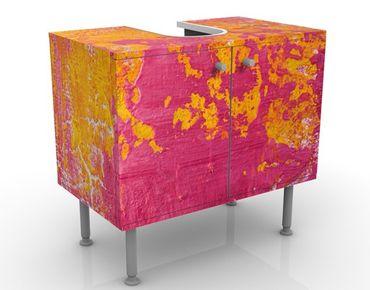 Waschbeckenunterschrank - The Loudest Cheer - Badschrank Gelb Rosa