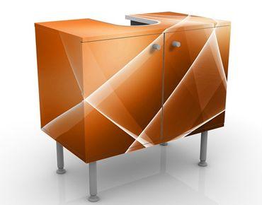 Waschbeckenunterschrank - Orange Sound - Badschrank Orange