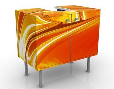 Waschbeckenunterschrank - Orchad Road - Badschrank Orange Gelb