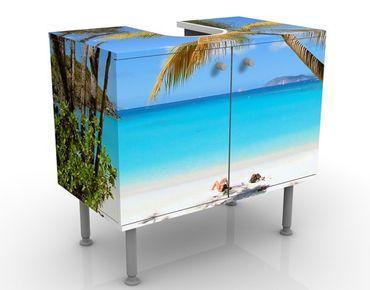 Waschbeckenunterschrank - Les Seychelles - Badschrank Blau