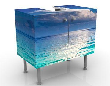 Waschbeckenunterschrank - Türkise Lagune - Maritim Badschrank Blau