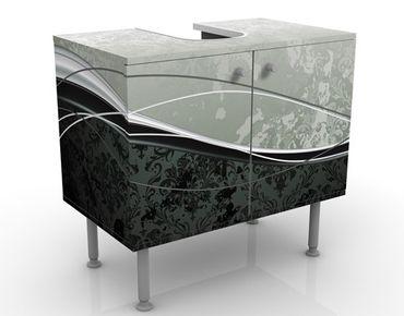 Waschbeckenunterschrank - Swinging Baroque - Badschrank Schwarz Grau