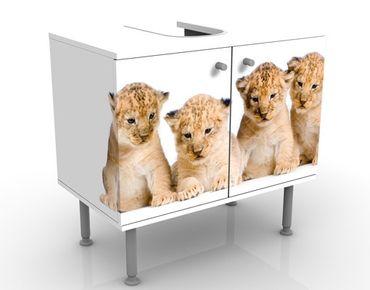 Waschbeckenunterschrank - Sweet Lion Babys - Badschrank Weiß