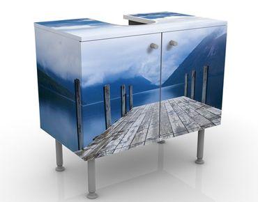 Waschbeckenunterschrank - Nelson Lake National Park - Badschrank Blau