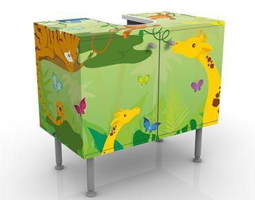 Waschbeckenunterschrank - No.IS87 Dschungelspiel - Badschrank Bunt