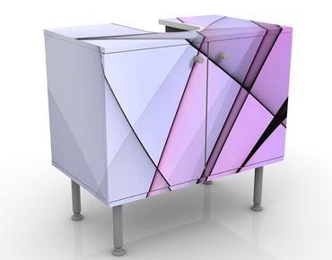 Waschbeckenunterschrank - Excitation - Badschrank Rosa