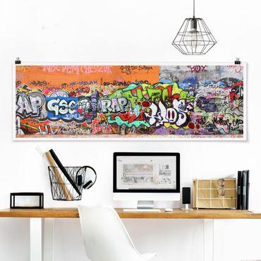 Poster - Graffiti - Panorama Querformat