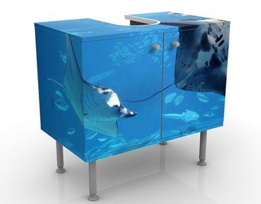 Waschbeckenunterschrank - Manta Ray - Badschrank Blau