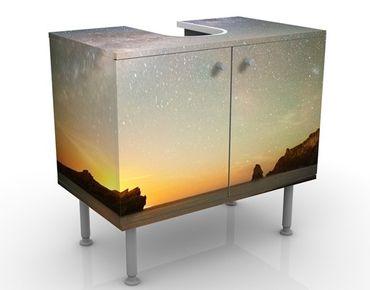 Waschbeckenunterschrank - Sternenhimmel über dem Meer - Badschrank