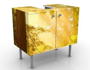Waschbeckenunterschrank - Morgengold - Badschrank Gelb