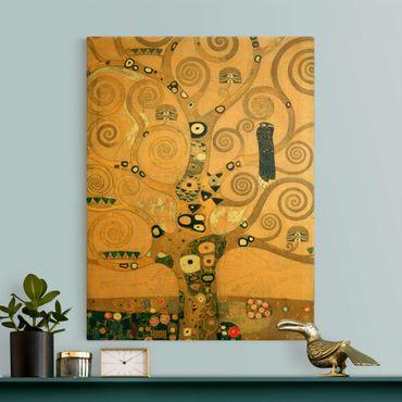 Leinwandbild Gold - Gustav Klimt - Der Lebensbaum - Hochformat 3:4