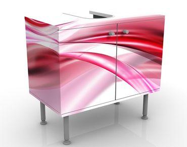 Waschbeckenunterschrank - Pink Dust - Badschrank Weiß Rosa Rot