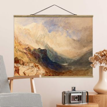 Stoffbild mit Posterleisten - William Turner - Aostatal - Querformat 4:3