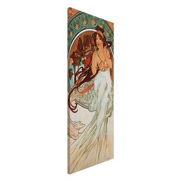 Magnettafel - Alfons Mucha - Vier Künste - Die Musik - Memoboard Panorama Hochformat 2:1