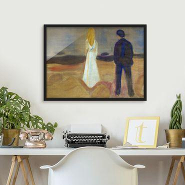 Bild mit Rahmen - Edvard Munch - Zwei Menschen - Querformat 3:4