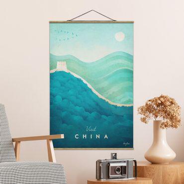 Stoffbild mit Posterleisten - Reiseposter - China - Hochformat 3:2