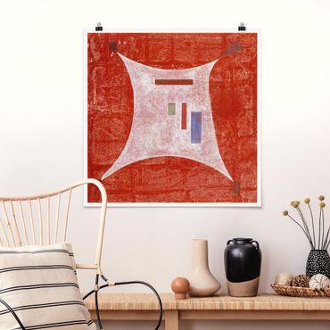 Poster - Wassily Kandinsky - Vier Ecken - Quadrat 1:1